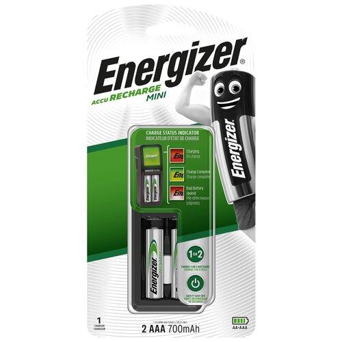Аккумулятор Ni-Mh 700 мА·ч Energizer Charger Mini + AAA 700mAh, 2 шт.