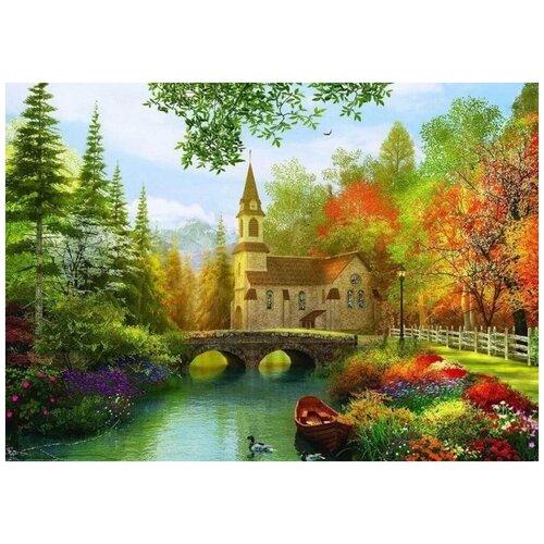 Купить Алмазная мозаика Красота осени , 40x56 см, Империя Бисера, Алмазная вышивка