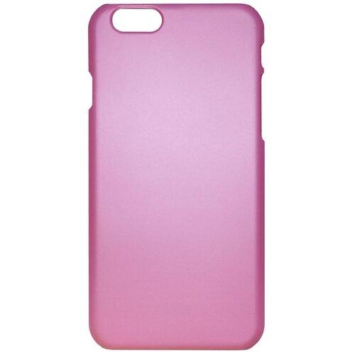 Чехол для iPhone 6/6S пластиковый прорезиненный розовый