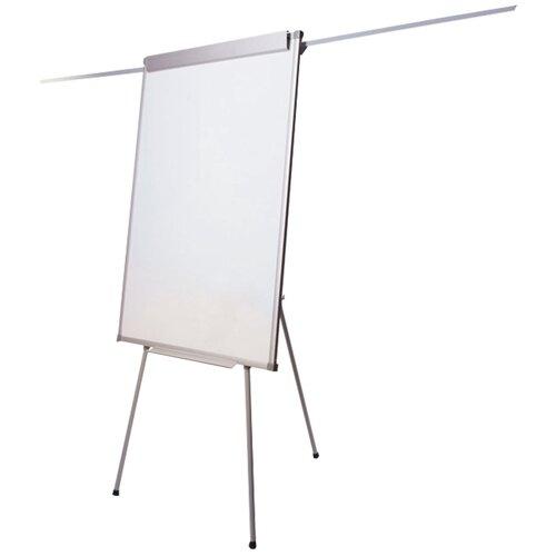 Доска-флипчарт магнитно-маркерная BRAUBERG на треноге 236160 100х70 см, белый/хром