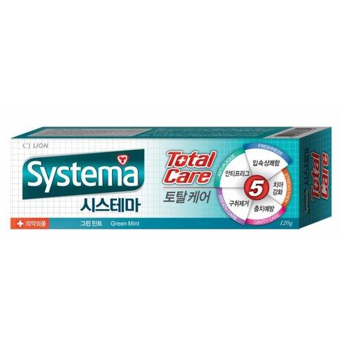 Зубная паста CJ Lion Systema Total Care Зеленая мята, 120 г