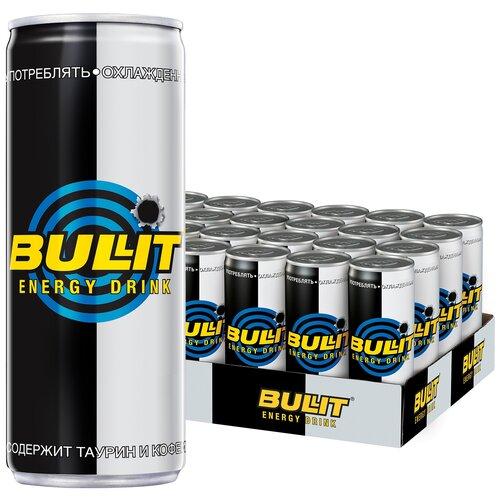 Фото - Энергетический напиток Bullit, 0.25 л, 24 шт. энергетический напиток solar power 0 45 л 6 шт