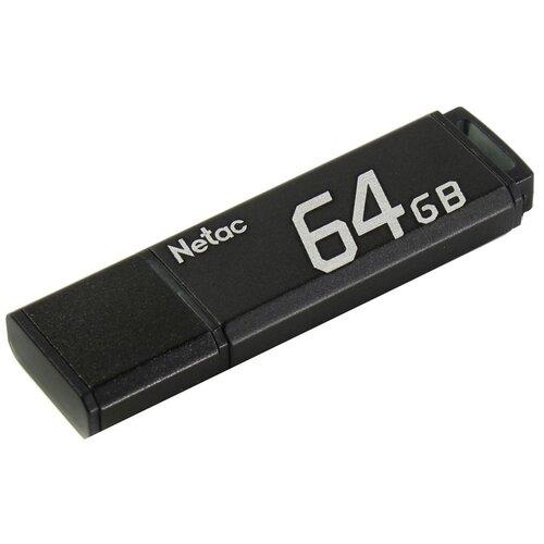Фото - Флешка Netac U351 64GB, черный флешка netac u505 usb 3 0 64gb черный