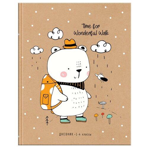 Купить ArtSpace Дневник школьный Рисунки. Wonderful walk коричневый/белый, Дневники