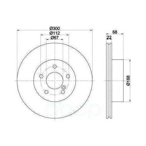 Диск Тормозной Mb W211/W212/X204 02- Задн.Вент. (Высокоуглеродистый С Покрытием Pro+) Textar арт. 92115505