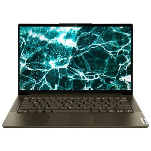 "Ноутбук Lenovo Yoga Slim 7 14ITL05 (Intel Core i5 1135G7/14""/1920x1080/16GB/512GB SSD/Intel Iris Xe Graphics/Windows 10 Home) 82A3004MRU dark moss"