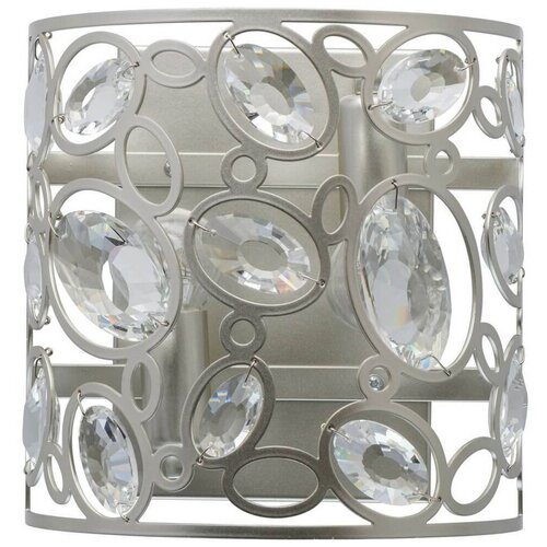 Фото - Настенный светильник MW-Light Лаура 345022702, E14, 80 Вт, кол-во ламп: 2 шт., цвет арматуры: серебристый люстра mw light лаура 345011226 1040 вт