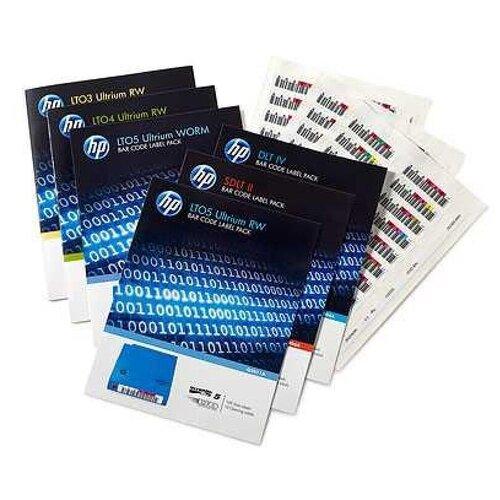 Наклейка HPE HP LTO-6 Ultrium RW Bar Code Label Pack