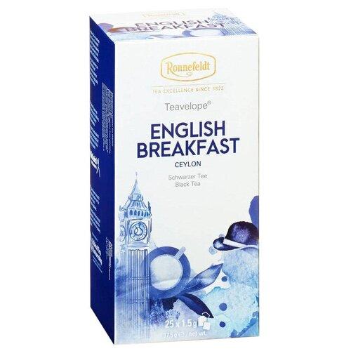 Чай черный Ronnefeldt Teavelope English Breakfast в пакетиках, 25 шт. чай зеленый ronnefeldt teavelope classic green в пакетиках 25 шт