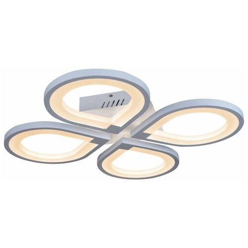 Люстра светодиодная iLedex Clover 6885/4 WH, 48 Вт, цвет арматуры: белый, цвет плафона: белый люстра светодиодная iledex clover 6885 4 bk 48 вт
