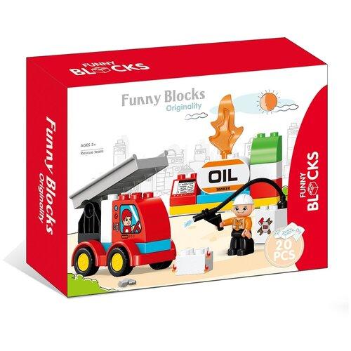 Фото - Конструктор Kids home toys Funny Blocks 188-418 Rescue Team rescue team