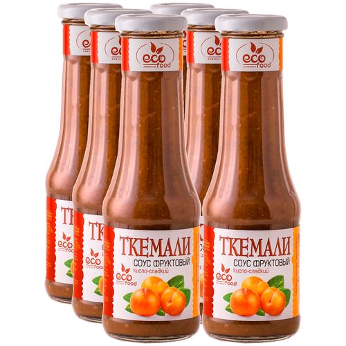 Ткемали. Соус фруктовый кисло-сладкий, 340г х 6шт ECOFOOD