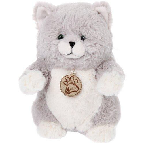 Мягкая игрушка Lapkin Толстый кот серый 20 см