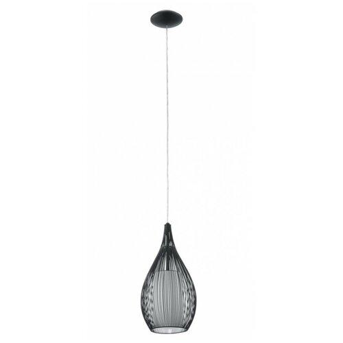 Потолочный светильник Eglo Razoni 92252, E27, 60 Вт, цвет арматуры: черный, цвет плафона: белый потолочный светильник eglo 94635 e27 60 вт