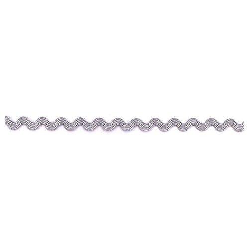 Тесьма PEGA тип вьюнчик, жемчужно-серый, 6,4 мм 100% вискоза