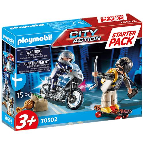 Конструктор Playmobil City Action 70502 Стартовый набор Полицейская погоня недорого