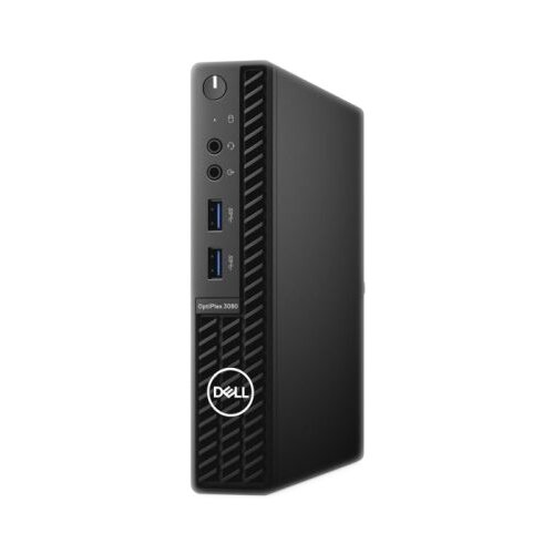 Настольный компьютер DELL Optiplex 3080 Micro (3080-6674) Micro-Tower/Intel Core i5-10500T/8 ГБ/256 ГБ SSD/Intel UHD Graphics 630/Windows 10 Pro черный