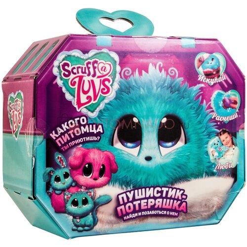 Игрушка Worlds Apart (Scruff a Luvs) Пушистик-Потеряшка пасхальный кролик Скраф Лав Blossom Bunnies в непрозрачной упаковке(голубой)