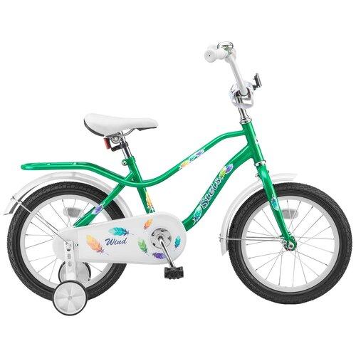 Детский велосипед STELS Wind 16 Z010 (2018) зеленый 11 (требует финальной сборки) детский велосипед stels jet 14 z010 2018 белый синий 8 5 требует финальной сборки