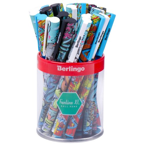 Купить Berlingo Набор шариковых ручек Funline XL StreetArt, 0.7 мм, 24 шт (CBp_07374), синий цвет чернил, Ручки