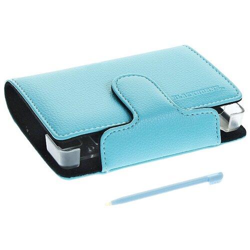 Black Horns Кожаный чехол со стилусом для приставки DS Lite (цвет голубой) (BH-DSL09203)