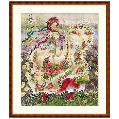 Набор для вышивания Праздничный платок MEREJKA K-15, Мережка, Наборы для вышивания  - купить со скидкой
