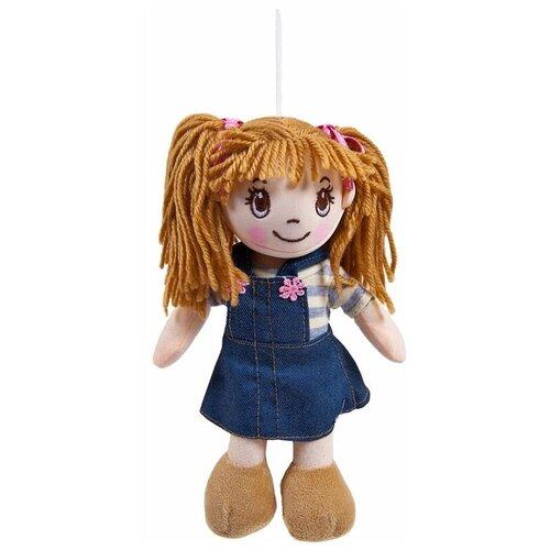 Фото - Мягкая игрушка ABtoys Кукла рыжая в джинсовом сарафане 20 см мягкая игрушка abtoys кукла рыжая в голубом платье 20 см