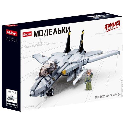 Конструктор SLUBAN Модельки M38-B0755 Истребитель F14
