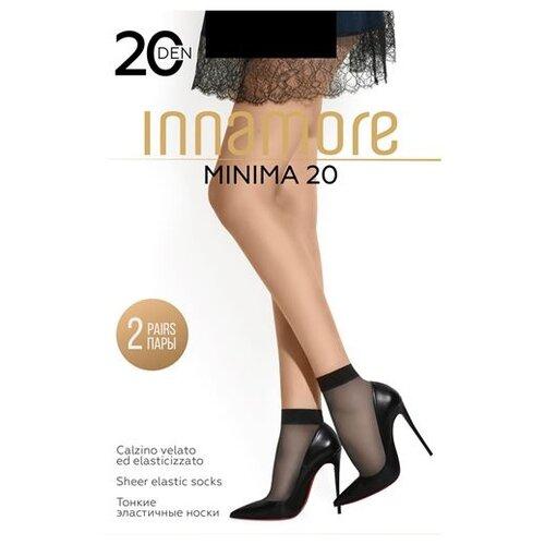 Капроновые носки Innamore Minima 20 den, 2 пары, размер UNI, nero
