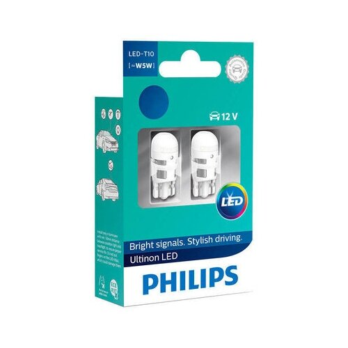 Фото - Лампа автомобильная светодиодная Philips Ultinon LED 11961ULW4X2 W5W 1W 2 шт. лампа автомобильная светодиодная philips ultinon led 11972ulwx2 led hl [h7] 14w 2 шт
