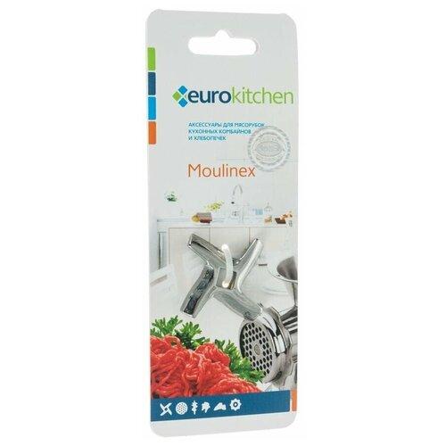 Eurokitchen KNG-04 Универсальный нож для мясорубки/кухонного комбайна, пос. место квадрат 9 мм, размах 46,5 мм, для мясорубки BRAUN