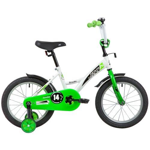 Фото - Детский велосипед Novatrack Strike 14 (2020) белый/зеленый (требует финальной сборки) детский велосипед novatrack twist 20 2020 зеленый требует финальной сборки