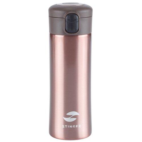 Термокружка STINGER HW-350-34, 0.35 л розовое золото