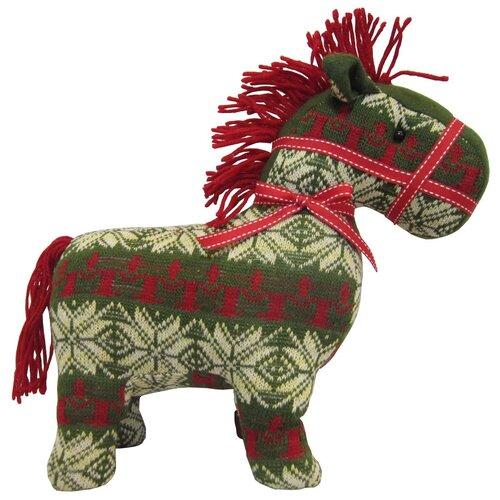 Мягкая игрушка SNOWMEN Лошадь зеленая 29 см