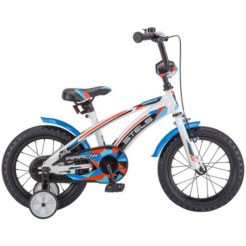 детский велосипед yibeigi v 14 синий Детский велосипед STELS Arrow 14 V020 (2018) белый/синий (требует финальной сборки)