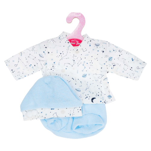 Antonio Juan Комплект одежды для кукол 33 см 0133Z-24 белый/голубой фото