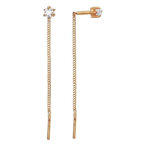 Сорокин Золотые серьги с фианитами 40037000