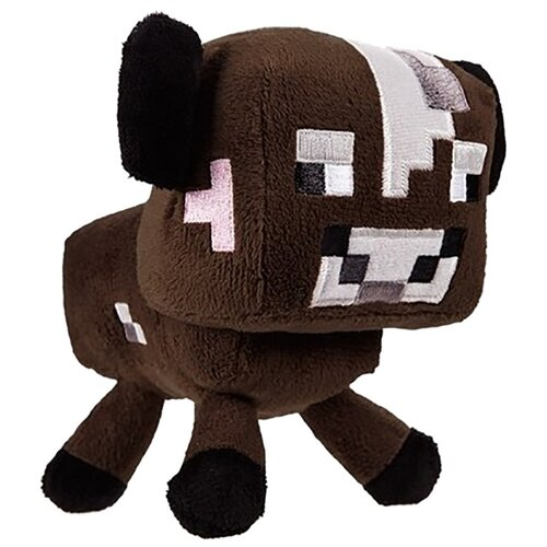 Мягкая игрушка Jazwares Minecraft Baby cow коричневый 18 см
