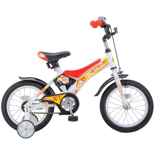 Детский велосипед STELS Jet 14 Z010 (2018) белый/красный 8.5 (требует финальной сборки) детский велосипед stels jet 14 z010 2018 белый синий 8 5 требует финальной сборки