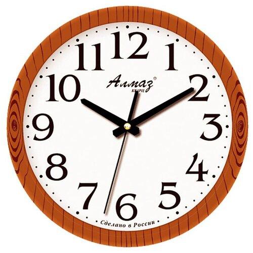 Фото - Часы настенные кварцевые Алмаз E35 коричневый/белый часы настенные кварцевые алмаз a87 коричневый белый