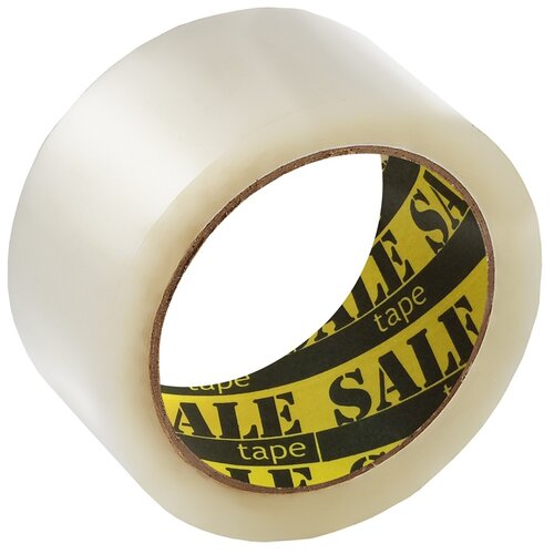 Купить Клейкая лента упаковочная Комус Sale Tape, 48 мм*66 м*45 мкм, прозрачная, Скотч