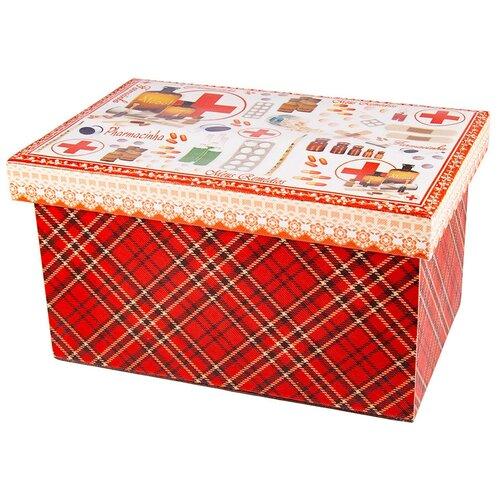 Русские подарки Шкатулка 84333 красный шкатулка декоративная русские подарки русские подарки mp002xu02r42