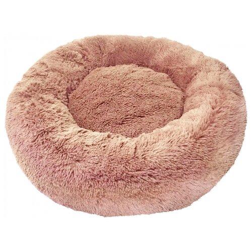 Лежак Зоогурман Пушистый сон 60х60х16 см коричневый