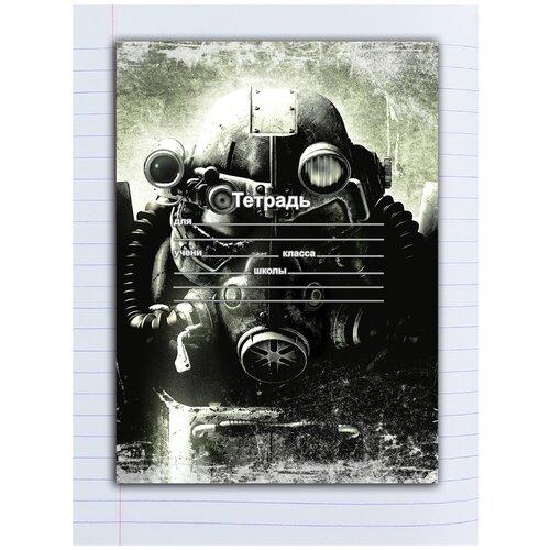 Купить Набор тетрадей 5 штук, 12 листов в линейку с рисунком Fallout, в противогазе, Drabs, Тетради