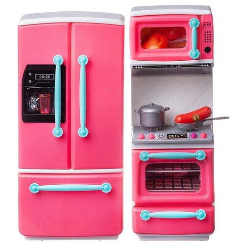 Фото - Кухня ABtoys Помогаю Маме PT-01396 розовый/белый набор abtoys помогаю маме pt 01342 розовый белый