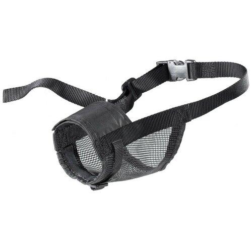 намордник для собак ferplast safe medium обхват морды 20 25 см черный Намордник для собак Ferplast Muzzle net L, обхват морды 16-30 см черный