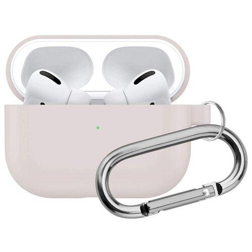 Чехол для Apple AirPods Pro силиконовый InnoZone Hang Case - Песочно-розовый (APP-20C-MK-17)