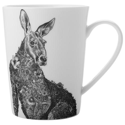 Кружка MAXWELL & WILLIAMS Рыжий кенгуру, 450 мл, белый/серый