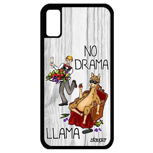 Чехол на смартфон Apple iPhone XS, No drama lama Лама без напрягов Комикс чехол книжка на смартфон huawei p20 pro оригинальный дизайн no drama lama лама без напрягов
