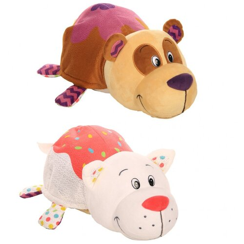 Мягкая игрушка 1 TOY Вывернушка Ням-Ням Панда-Кошечка с ароматом 35 см